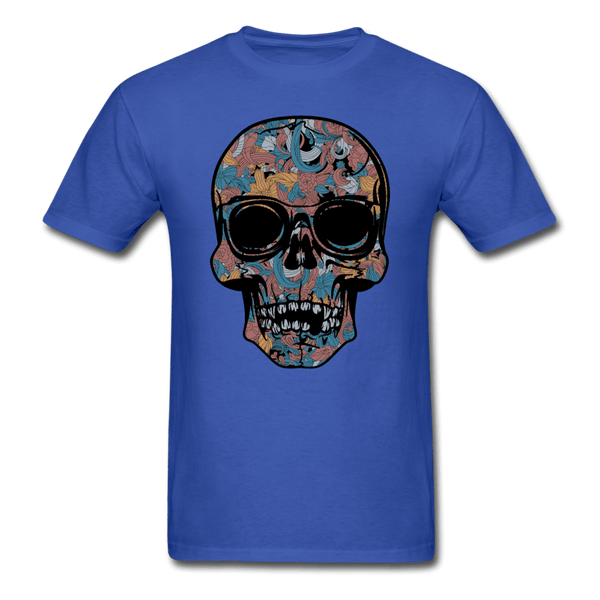 Colorful Single Skull T-Shirt - royal blue