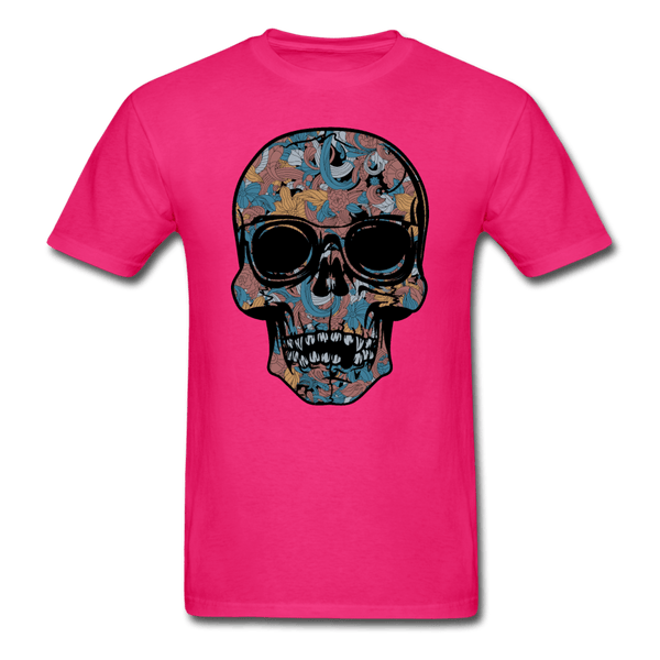 Colorful Single Skull T-Shirt - fuchsia