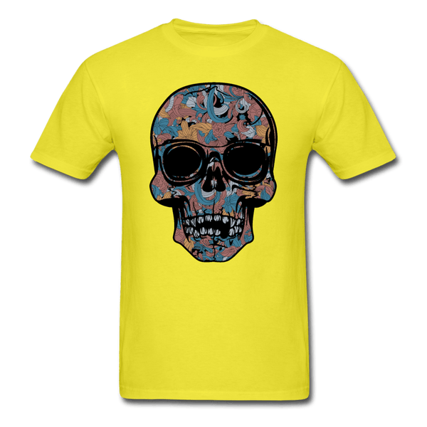Colorful Single Skull T-Shirt - yellow