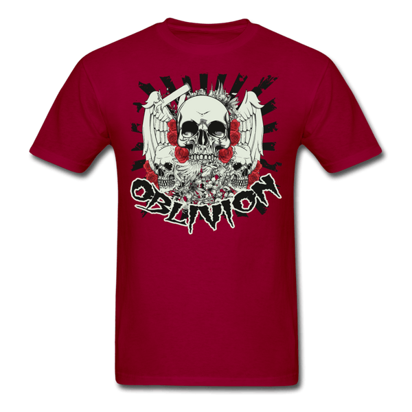 Oblivion Skull T-Shirt - dark red