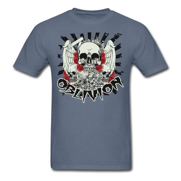 Oblivion Skull T-Shirt - denim