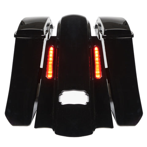 """Big Nasty"" CVO Style Rear Fender & Saddlebags for 2014-2021 Harley Touring Models"