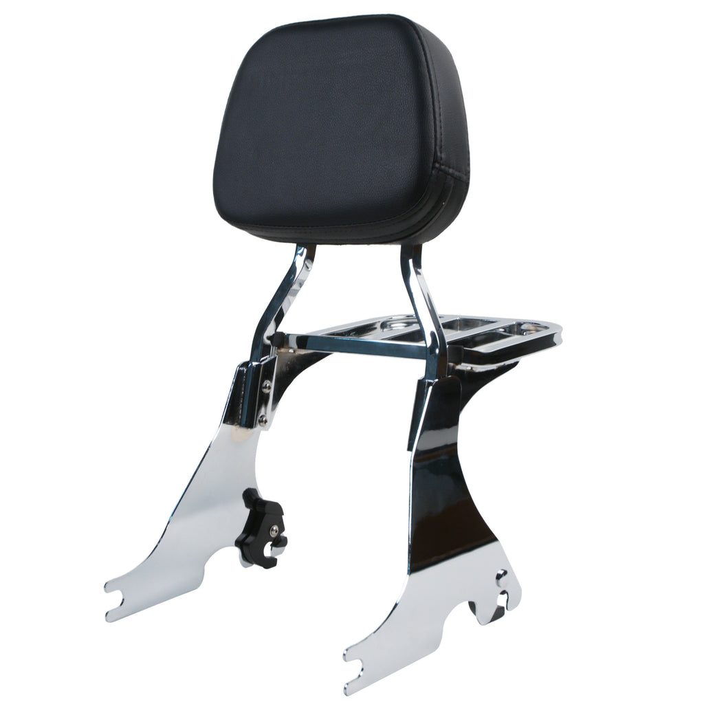 sissy bar backrest with luggage rack for harley davidson sportster. Black Bedroom Furniture Sets. Home Design Ideas