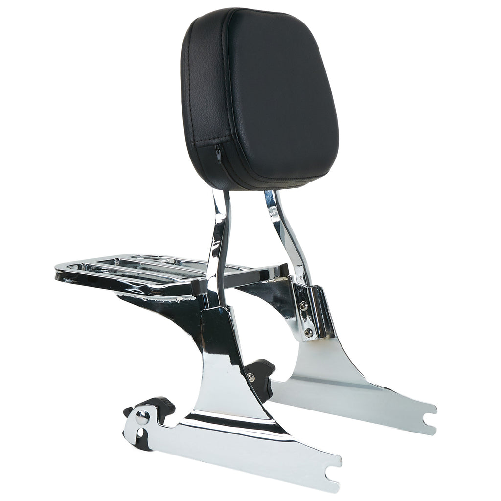 Sissy Bar Backrest With Luggage Rack For Harley Davidson