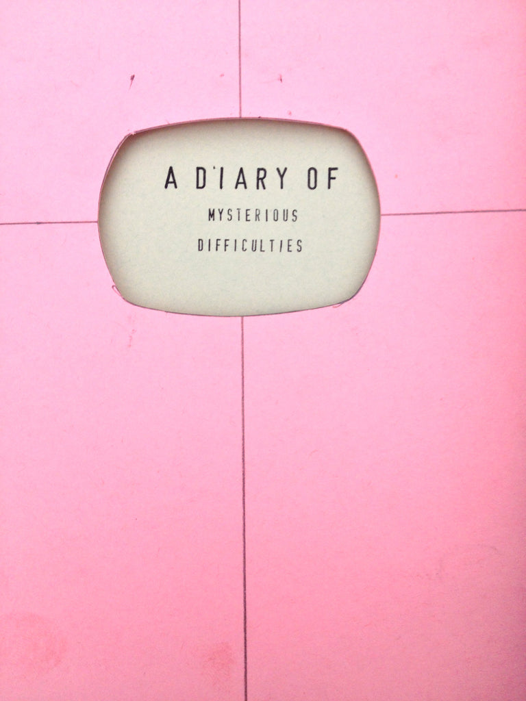 A Diary of Mysterious Difficulties by Laura Raicovich
