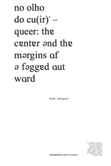 Queer City, a Reader