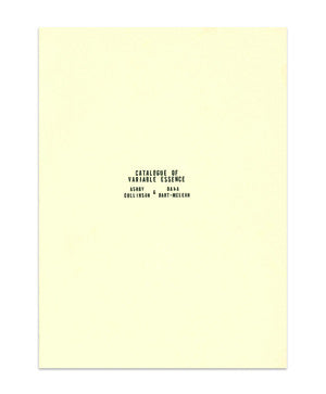 Catalogue of Variable Essence by Ashby Collinson and Dana Dart-McLean