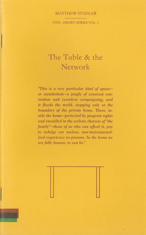 The Table and the Network