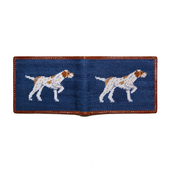 Pointer Needlepoint Bi-Fold Wallet
