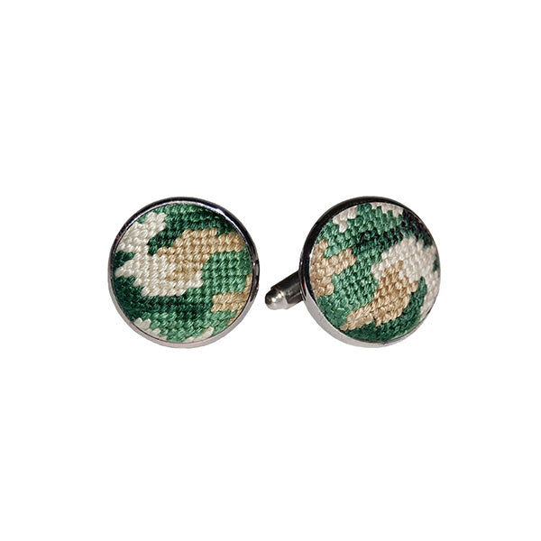 Camo Needlepoint Cufflinks