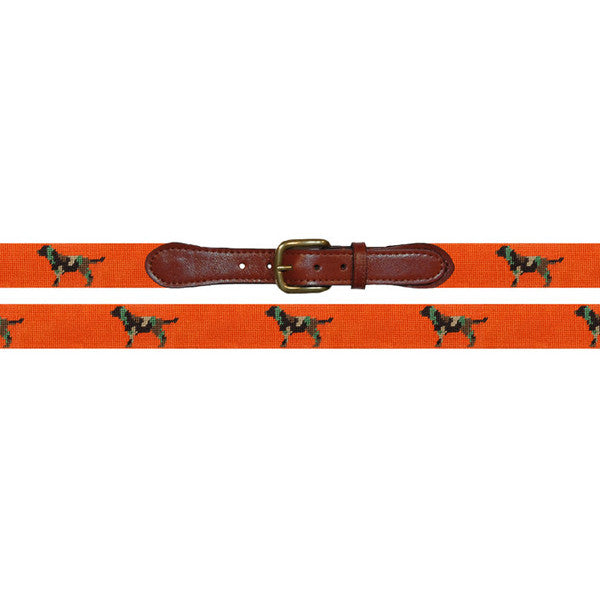 Needlepoint Belt // Camo Retriever - Mick & Kip