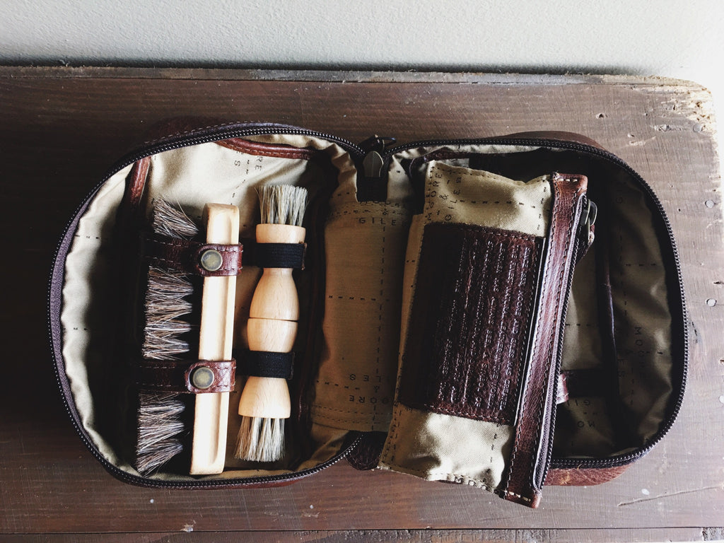 Griffin Shoe Shine Kit // Titan Milled Brown