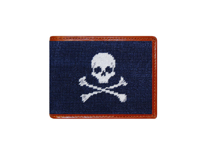 Bi-Fold Needlepoint Wallet // Jolly Roger - Mick & Kip