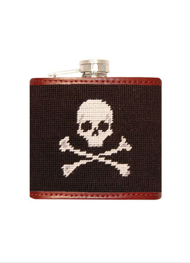 Needlepoint Flask // Jolly Roger - Mick & Kip