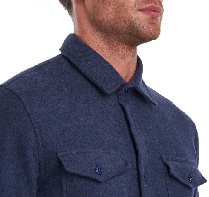 Brushed Twill Overshirt in Navy