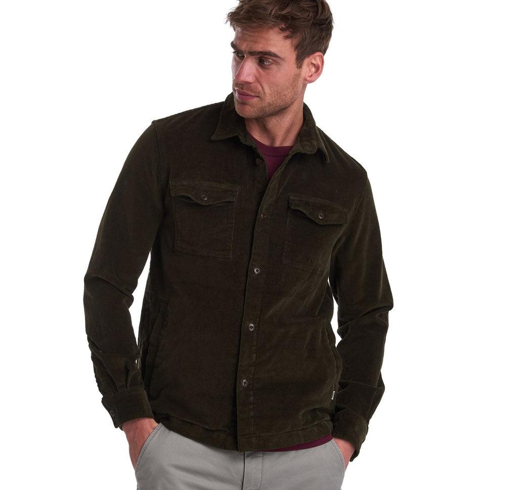 Corduroy Overshirt in Olive