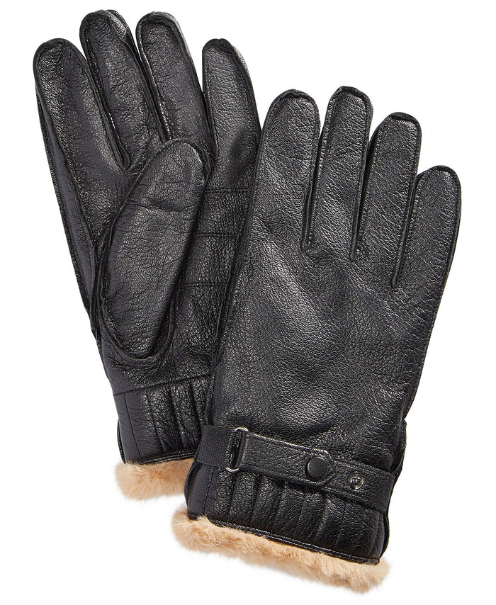 Leather Utility Gloves in Black