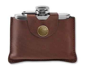 Brown Leather 4 Oz. Hip Flask