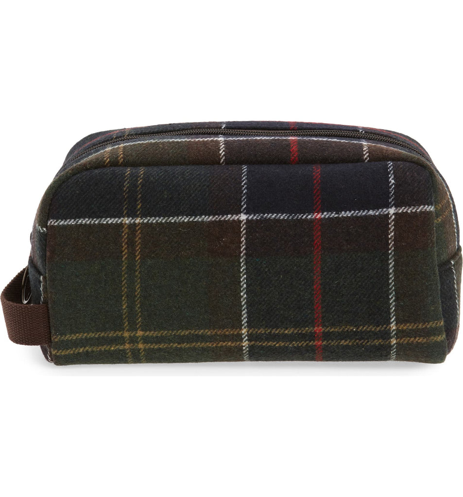 Tartan Wool Toiletry Bag