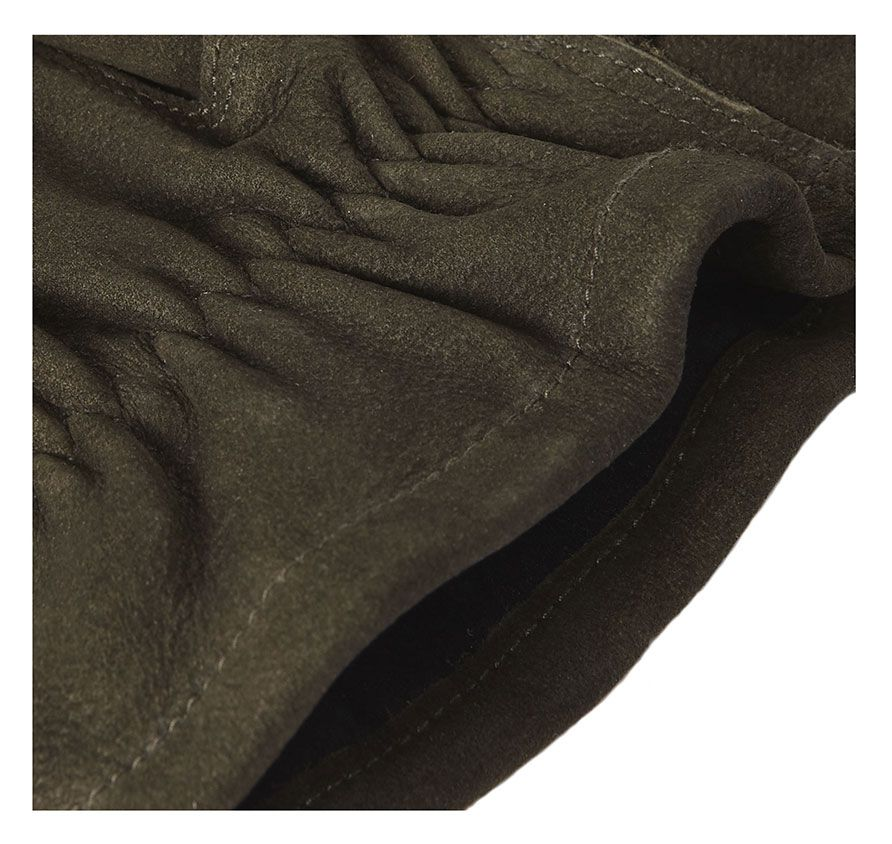 Leather Thinsulate Gloves in Black