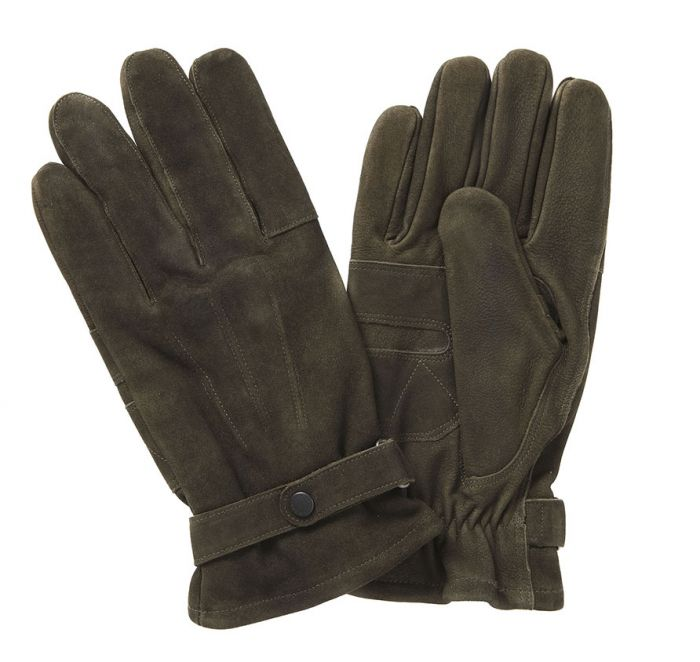 Leather Thinsulate Gloves in Olive