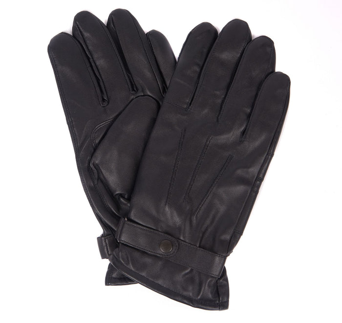 Burnished Leather Thinsulate Gloves in Black