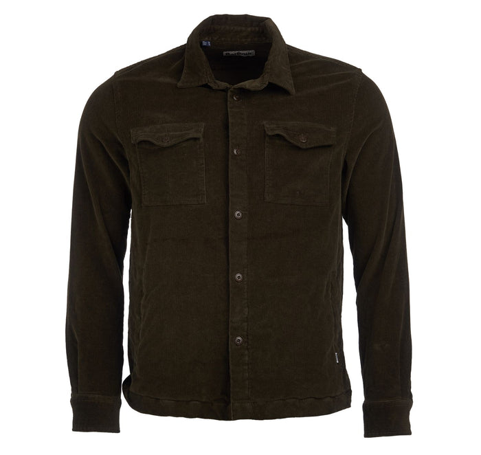 Cord Overshirt in Olive