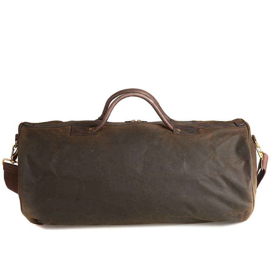 Wax Holdall in Olive