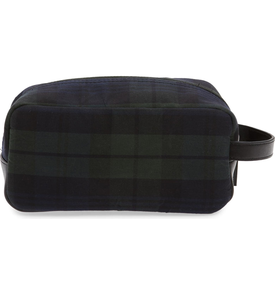 Tartan Wax Toiletry Bag
