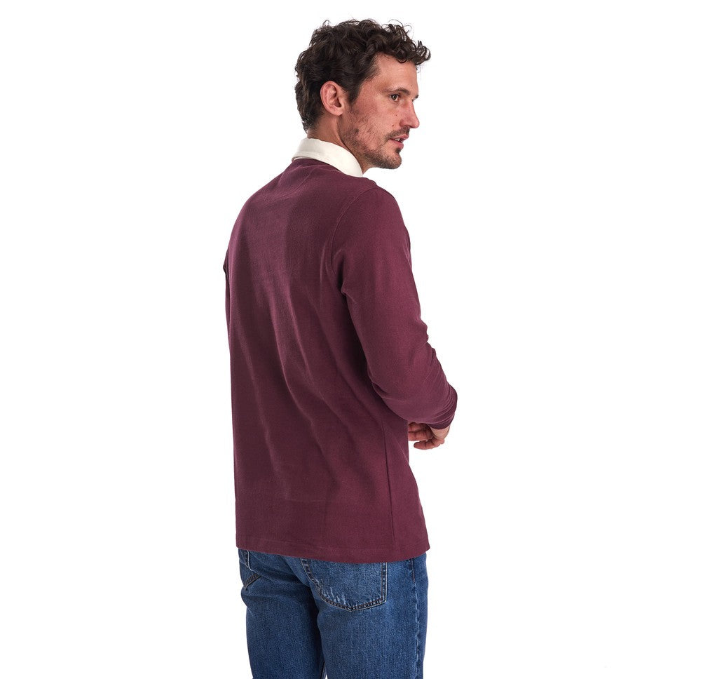 Weston Panel Rugby Shirt in Merlot