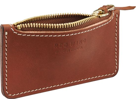 Frontier Leather Zipper Pouch in Brown