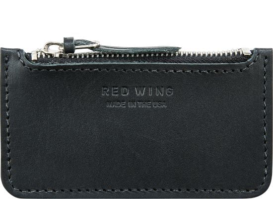 Black Frontier Leather Zipper Pouch
