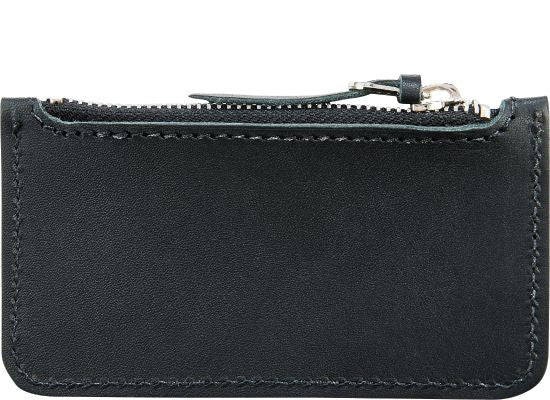 Frontier Leather Zipper Pouch in Black
