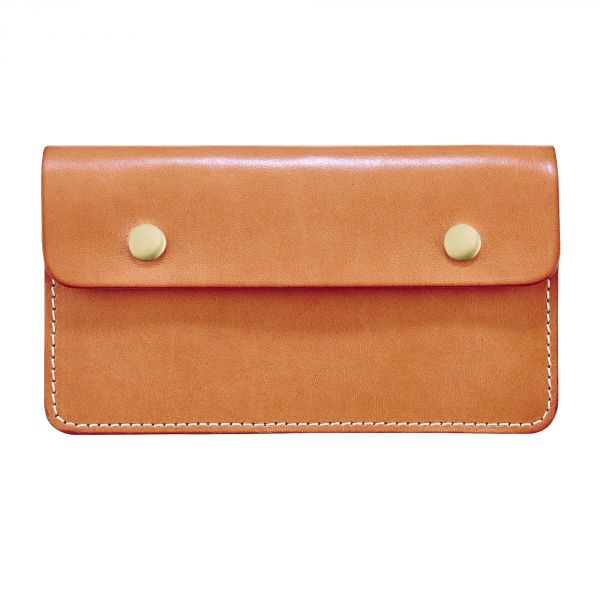 Leather Zip Wallet in Natural Leather