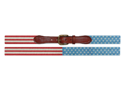 Needlepoint Belt // Stars & Stripes - Mick & Kip