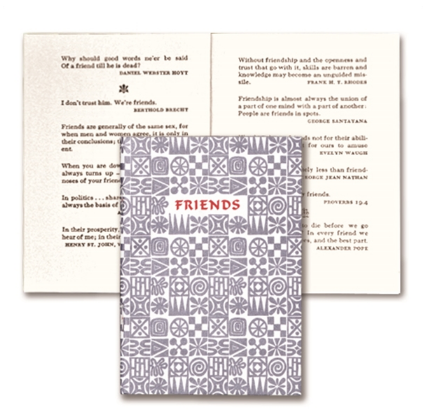 Miniature Book // Friends - Mick & Kip