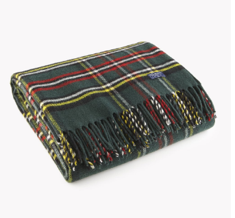 FARIBAULT ROYAL CAREFREE STEWERT THROW // SPRUCE BLACK GOLD NATURAL RED - Mick & Kip