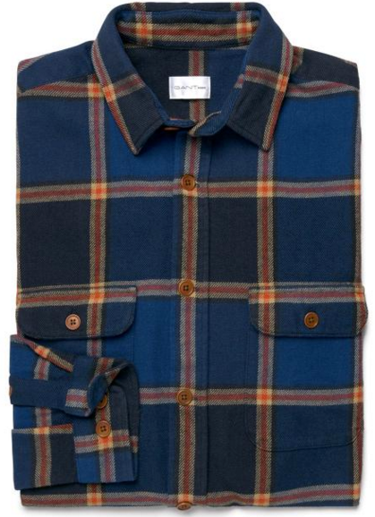Checked Twill Overshirt