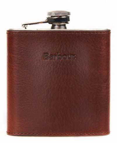 Dark Brown Leather Flask