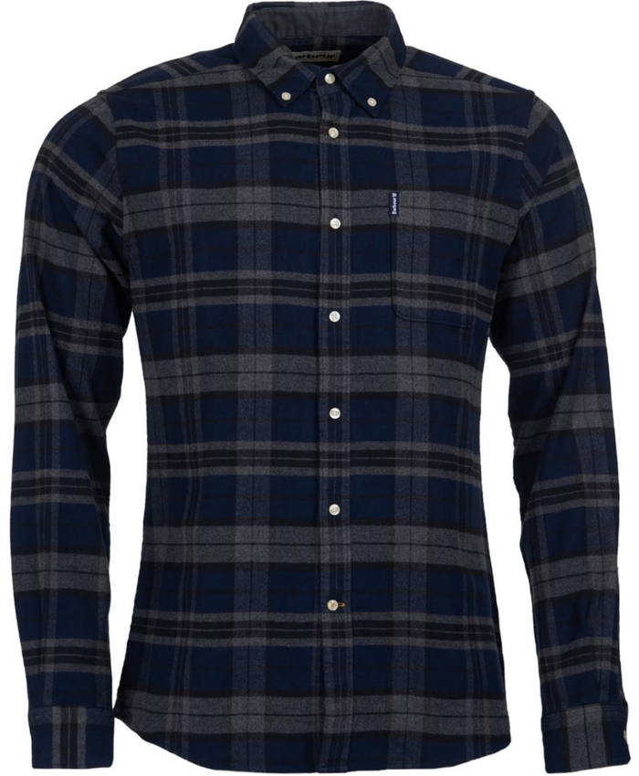 Highland Check Shirt in Grey Marl