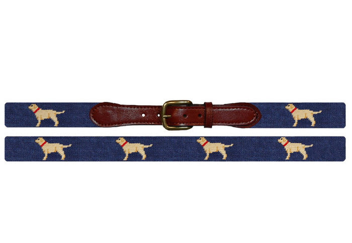Needlepoint Belt // Yellow Lab - Mick & Kip