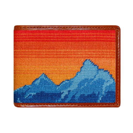 Mountain Sunset Needlepoint Wallet