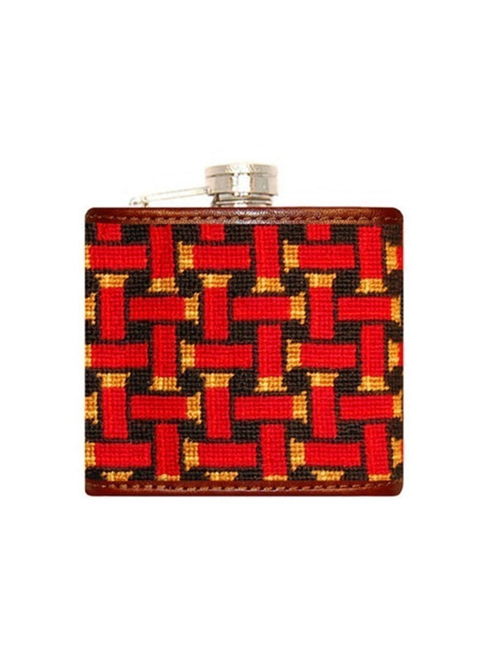 Shotgun Shells Needlepoint Flask