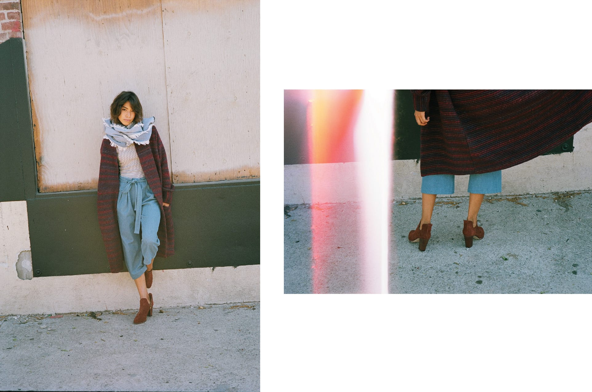 YSTR / Kenzie Coat, Edie Top & Jett Tie Pant (Denim)