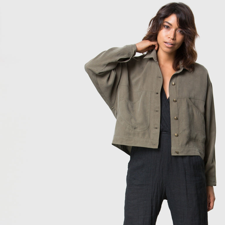 YSTR Sid Jacket (Cargo) - Long-Sleeve Cropped Cargo Jacket