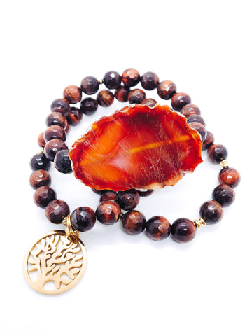 Tree of Life - Brown Tiger Eye