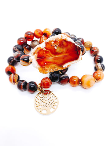 Tree of Life - Brown Banded Agate