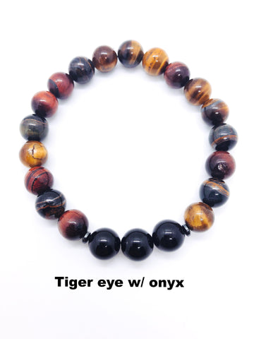 Unbreakable Men - Tiger Eye with Onyx - Unbreakable Memories