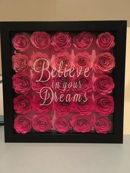 Inspirational shadowbox - Unbreakable Memories