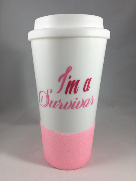 Breast Cancer Awareness travel mug